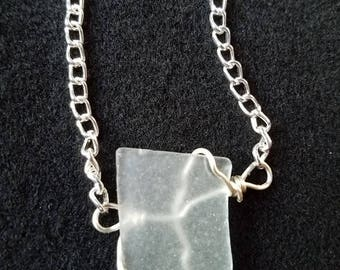 Wire Wrapped Sea Glass Bracelet