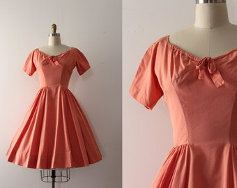 vintage 1950s Anne Fogarty dress // 50s cotton dress