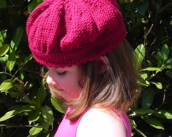 Raspberry Beret Knitting Pattern