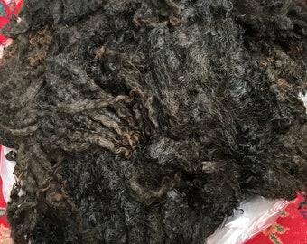 292 LUCIANO Wensleydale Black Raw Unwashed RAM Fleece