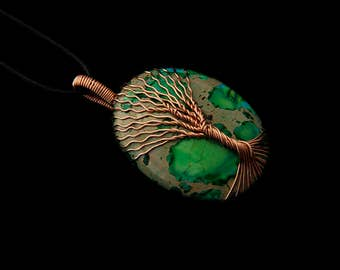 Tree of life jewelry - tree life necklace - copper wire pendant - copper pendant - wire wrapped jewelry - wire tree of life - wire tree neck
