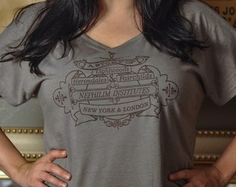 The Mortal Instruments Infernal Devices Inspired Dolman Sleeve Shirt or VNeck
