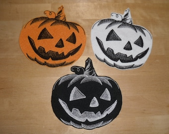 Jack o lantern patch Halloween patch Iron on Patch Halloween party Halloween decor Halloween decoration