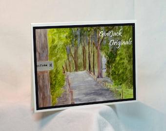 Notecards, Note Cards, Blank Notecards, Blank Note Cards,  Bonaventure Cemetery, Savannah, GA, Watercolor, Original Art