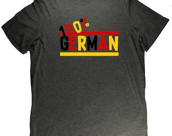 100% German Flag Germany Pride T Shirt
