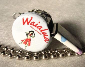 Whistle Children Toy Sport Hawaiian White