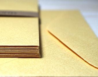 Gold Shimmer Invitation Envelopes | DIY Party Invitations | Wedding Stationery / Size 11B / 10/Pk