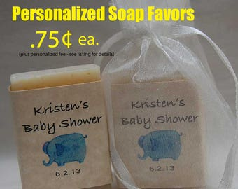 Baby Shower Favor-Elephant Favor-handmade soap Party Favor - 1 oz.  soap Favors