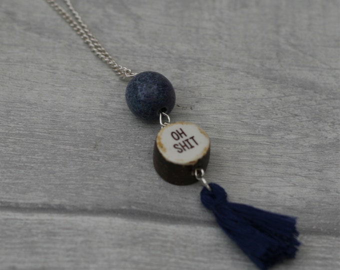 MATURE CONTENT Swear Word Necklace with Tassel