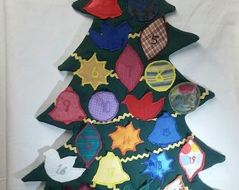 Tree shaped reusable advent calendar
