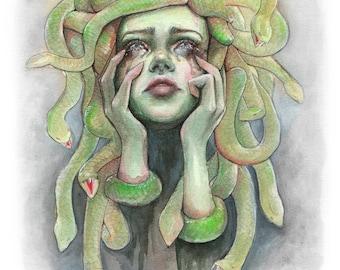 "Art Print ""Medusa"" portrait"