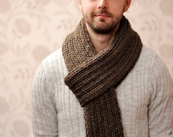 Mens Womens Scarf, Super Chunky Knit Scarf, Rib Scarf, Winter Scarf, Mens Accessory, 23 Colours