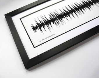 I'll Be Seeing You - Song Sound Portrait created from waveform - Customized Lyric Song Art