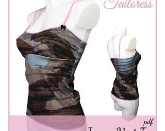 Jersey Vest Tank Top PDF Sewing Pattern Pdf Sewing Patterns for Women Pdf Sewing Patterns Pdf Sewing Pattern Sewing Patterns
