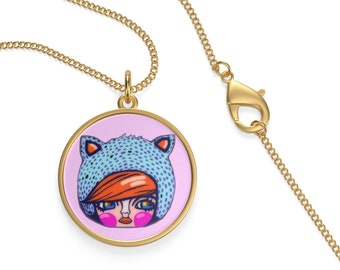 Kitty Kat Kosharek Art Necklace
