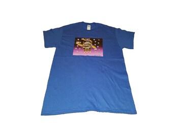 Earth Fox T-Shirt, Medium, Blue