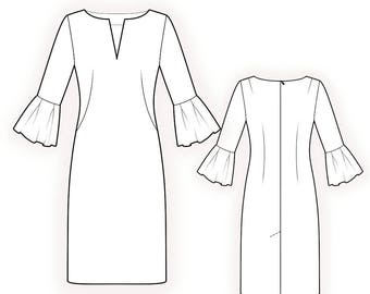 L4213 Dress - S-M-L-XL or Made to Measure Sewing Pattern PDF Download