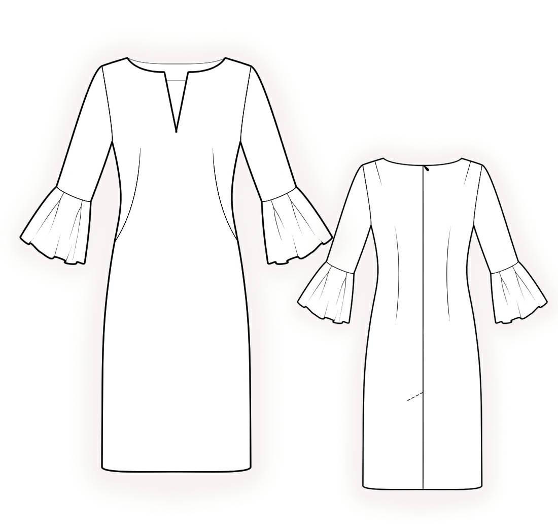 L4213 Kleid PDF Muster Nähmuster PDF Maßgeschneiderte