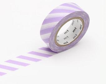 Lilac Stripe Washi Tape • MT Masking Tape • Washi Tape UK • Japanese Stationery • MT Stripe Lilac Purple