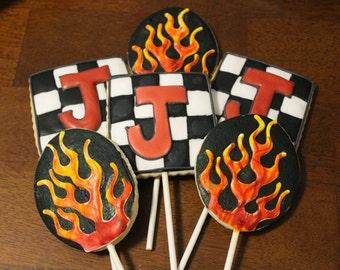 hotrod racing cookies