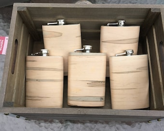 Wood Wrapped Flask - Ambrosia Maple