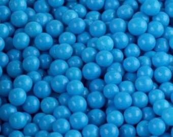 Edible Blue Sugar Pearl Candies - 4mm