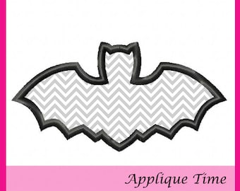 Instant Download Bat Silhouette Embroidery Applique Design 4x4, and 5x7