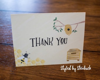 Honey Bee Thank You - PRINTABLE