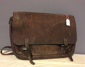 Leather Swiss Army bag, messenger purse, Army bag, messenger bag,vintage purse #96