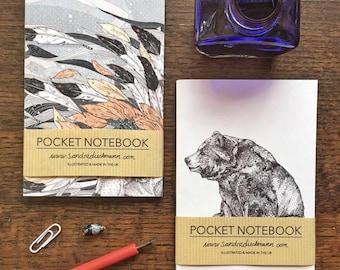 Notebook, Jotter, Mini Sketchbook | Bear