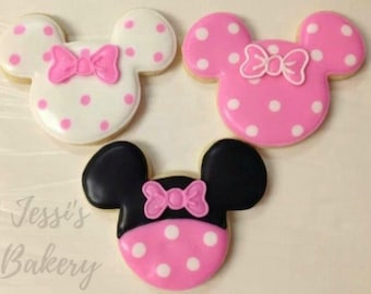 MINNIE MOUSE COOKIES (12)