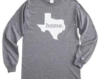Homeland Tees Texas Home Long Sleeve Shirt