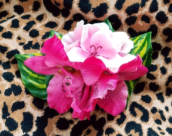 Pink Orchids and Pink Flowers Hair Flower