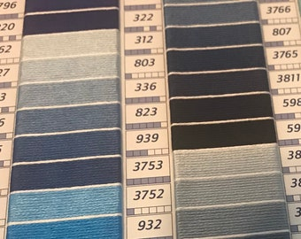 DMC Embroidery Floss Various Blues - 4