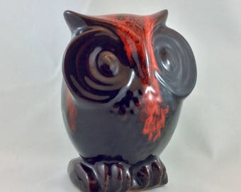 Owl Piggy Bank by Canuk Pottery