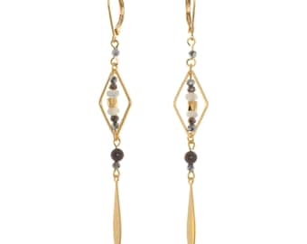 Earrings Manta nature - gold