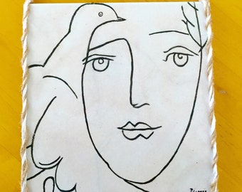 Picasso's drawing of Francoise Gilot