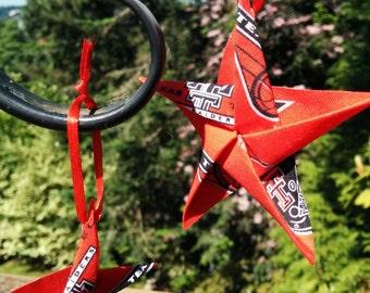 Texas Tech Origami Cotton Fabric Star Ornament