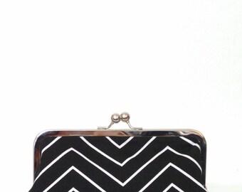 Clutch / Clutch Purse/ Clutch Bag / Purse / Bridal Clutch / Coctail Bag / Handbag / Evening Bag / Black and White