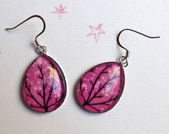 The sparkling stars BO226 tree, drop earrings