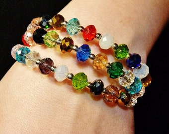 Multiple Color Gem Bangle Designer Bracelet FREE SHIPPING USA