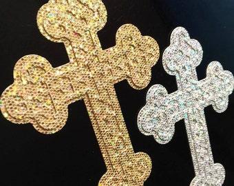 Cross Cake Topper - Single or Double-Sided Glitter