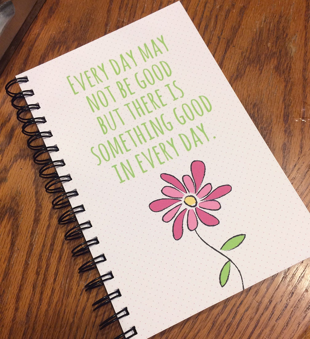 Quotes Journal Inspirational Quote Journal Spiral Bound Notebook Journal