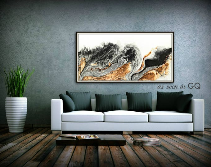 Giclee Print of Original Abstract Oil Painting Bold Art Abstract Made To Order Large Fine Art Print Copper Gift for Men and Gift for Women