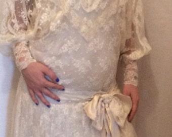 Vintage 1920s Wedding Gown - sale