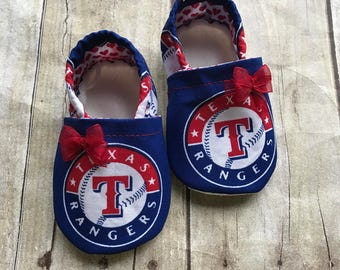 Texas Rangers Inspired Booties with Bow