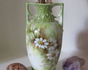 Art Nouveau Antique Hand Painted Vase