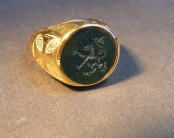 Signet Engraved Ring Custom Made Gold Traditional Sizes Designs.