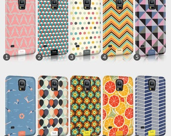 Retro Sixties Patterns Phone Case For Samsung 3D Full Wrap Hard Cover Gift Psychedelic Love Peace Heart Revival