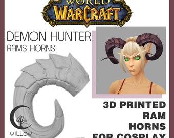 Demon hunter rams horns 3D printed